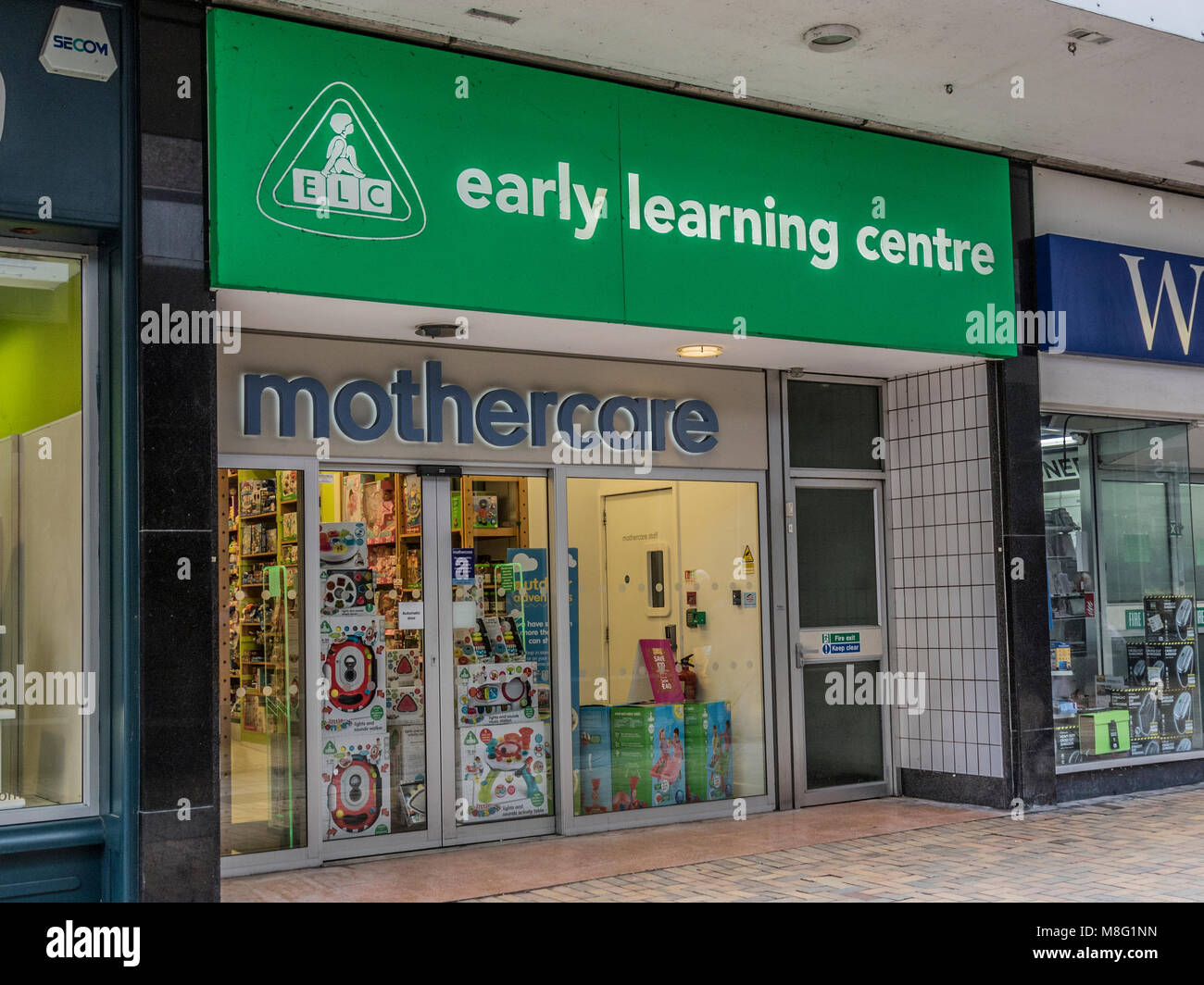 Mothercare, Early Learning Centre, Stockport Town Centre Shopping area, Merseyway - Stock Image