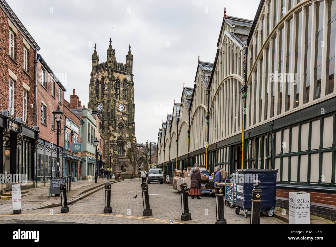 Stockport Market, Town Centre, Stockport, Greater Manchester. UK - Stock Image