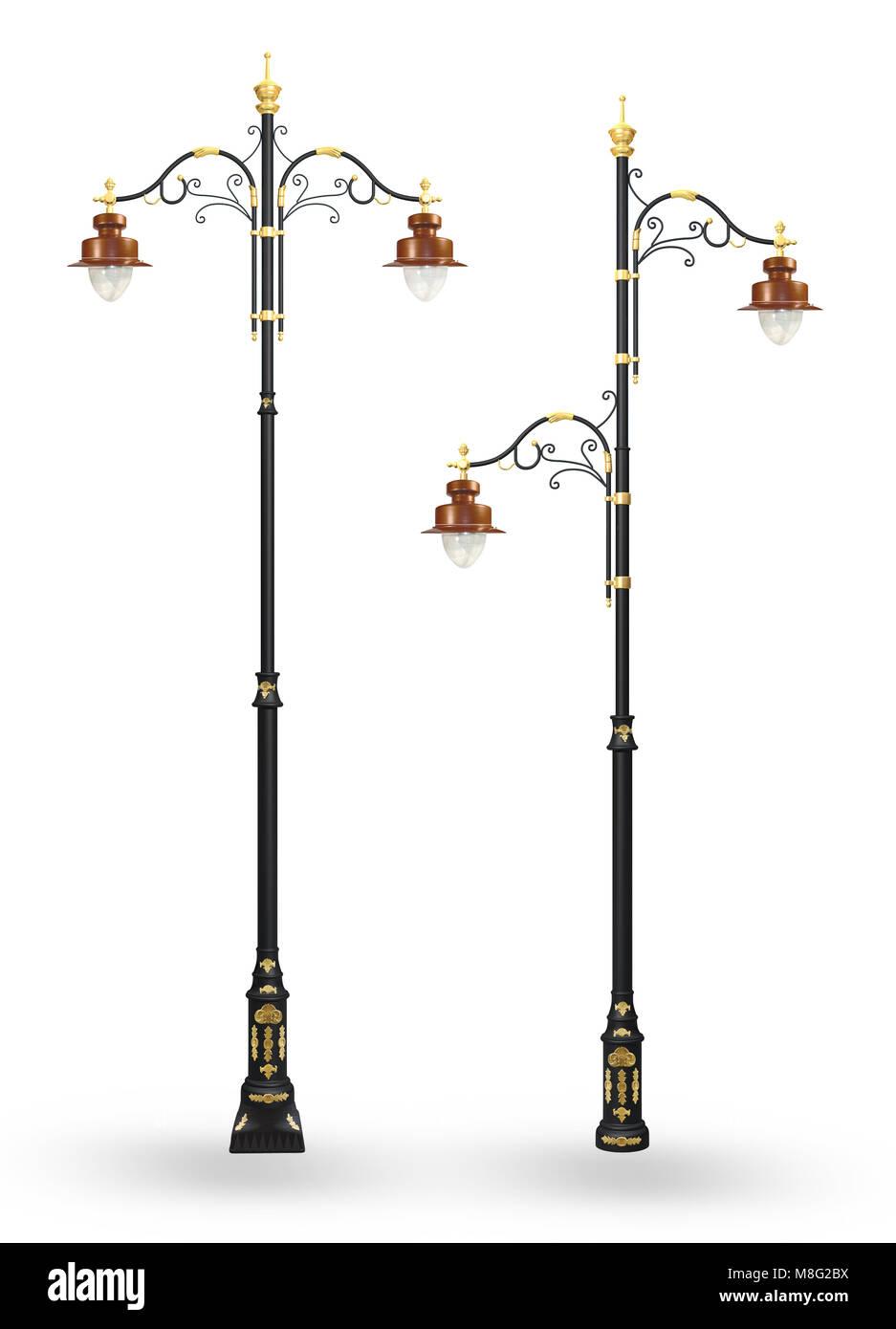 Ornate Lamp post - Stock Image