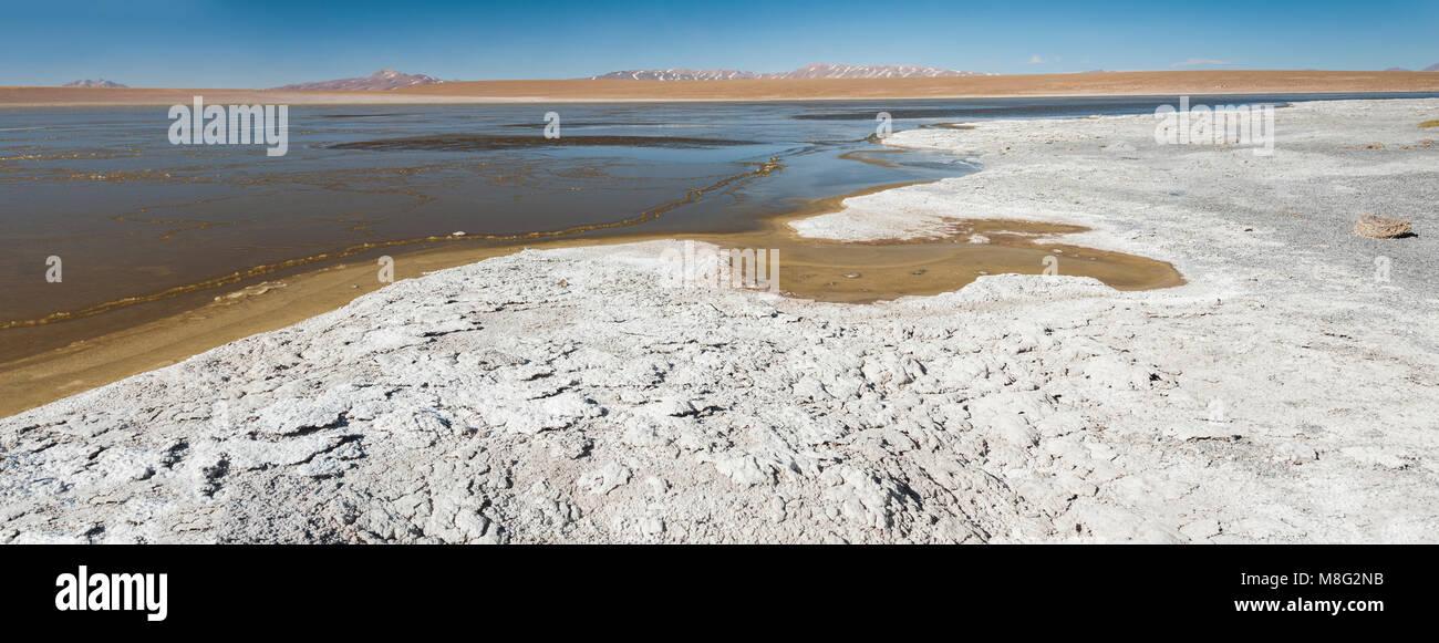 Laguna Kollpa Kkota (Collpa Laguna), Sud Lípez Province, Potosí Department, Bolivia - Stock Image