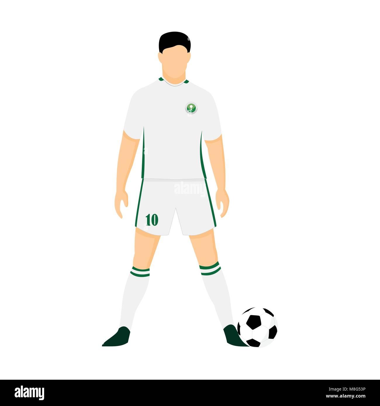 8a7ba5cffc8 Saudi Arabia Football Jersey National Team World Cup Vector Illustration  Graphic Design