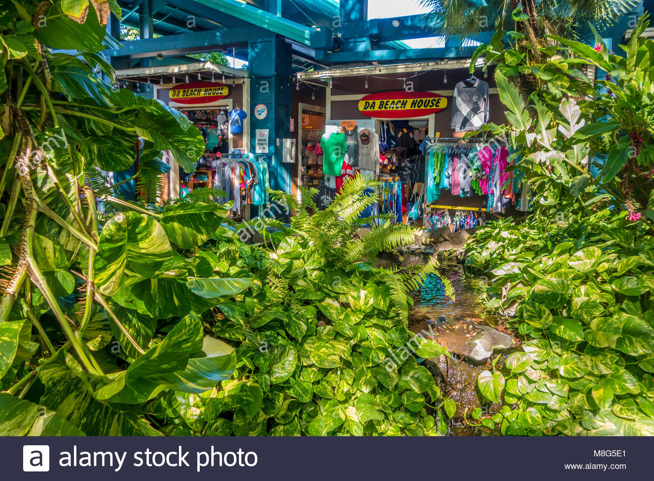 Clothing store Kalama Village shopping center in Kihei island of Maui in the state of Hawaii USA - Stock Image
