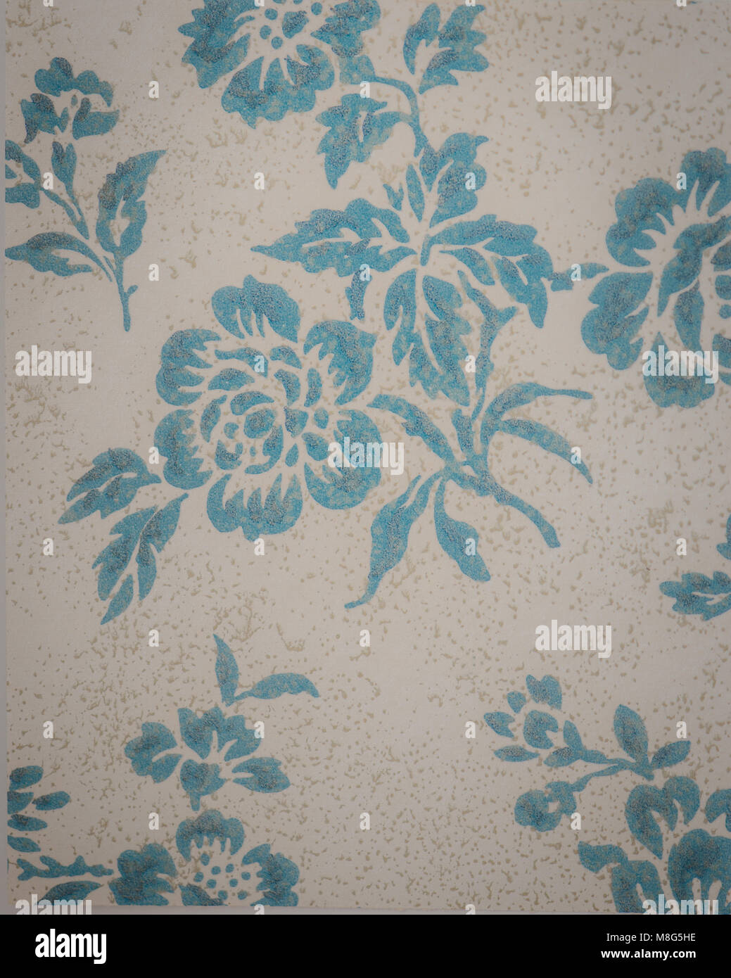 1940 S Vintage Wallpaper With A Floral Pattern Stock Photo