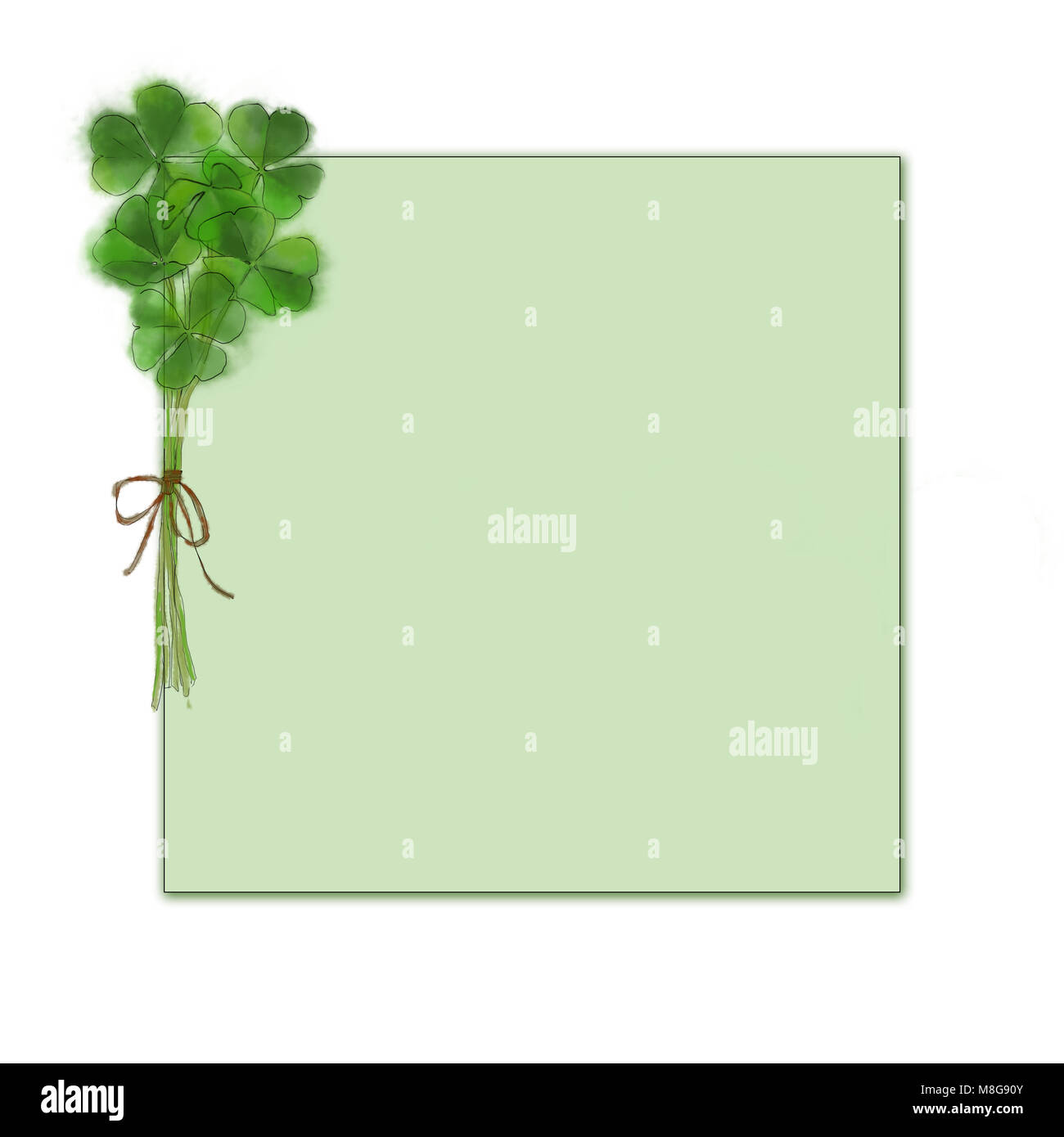 image about St Patrick's Day Clover Printable named Shamrock Bouquet Template Layout. St. Patricks Working day Structure