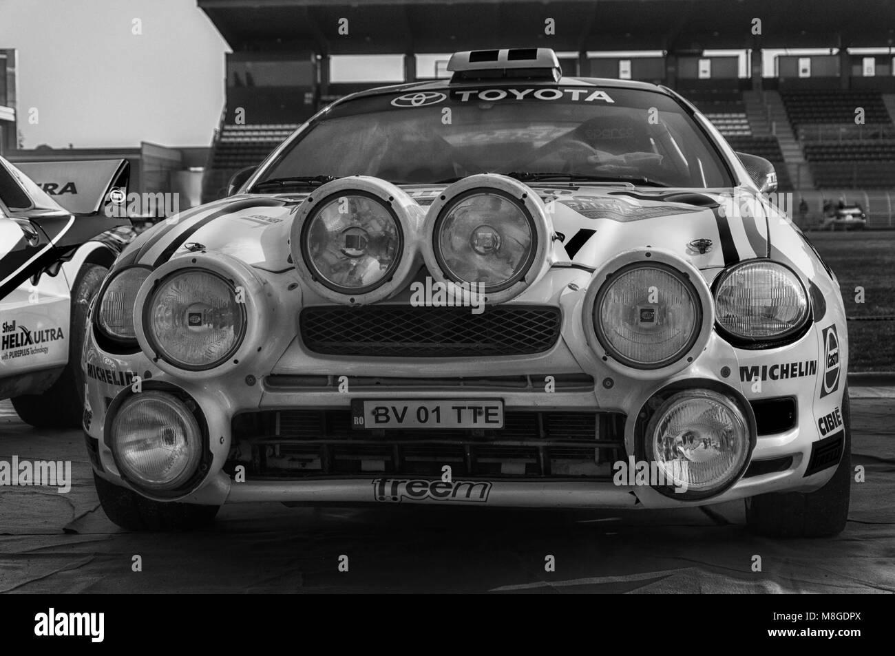 SANMARINO, SANMARINO - OTT 21, 2017 : TOYOTA CELICA GT4 - ST205 1995 in old racing car rally THE LEGEND 2017 the - Stock Image