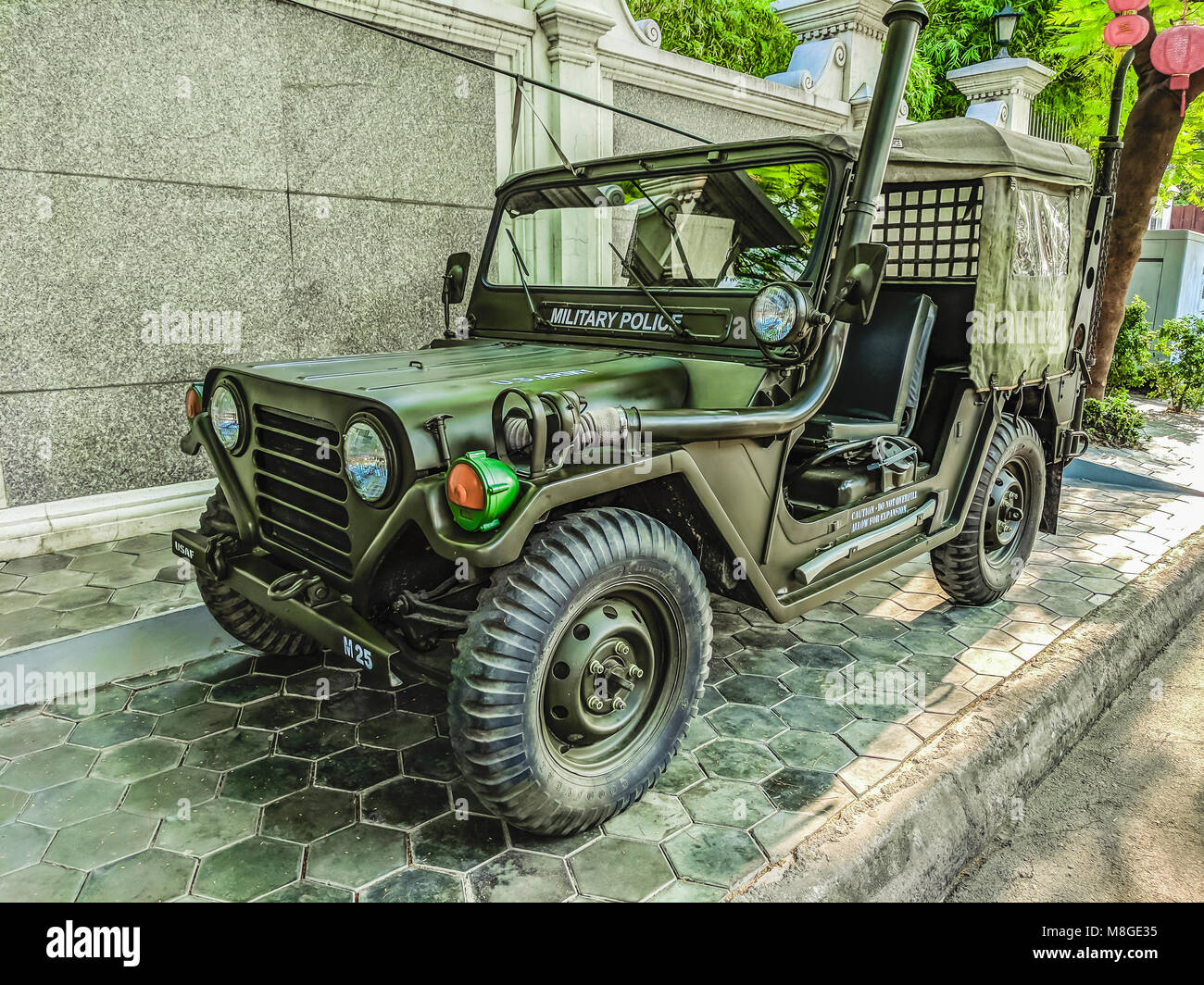 Us Army Willy S Jeep On A Footpath In Cambodia Used In The Vietnam Stock Photo Alamy