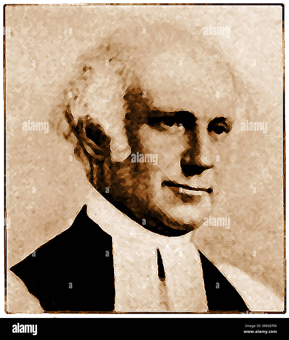 Portrait of Charles Pettit McIlvaine 1799-1873 - 2nd Bishop of Ohio USA ( Episcopal bishop, author, educator and Stock Photo