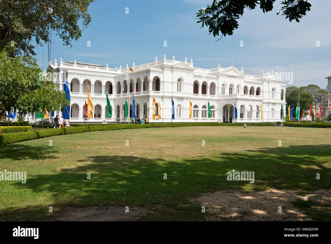 The National Museum of Colombo aka Sri Lanka National Museum exterior on a sunny day with blue sky. Stock Photo
