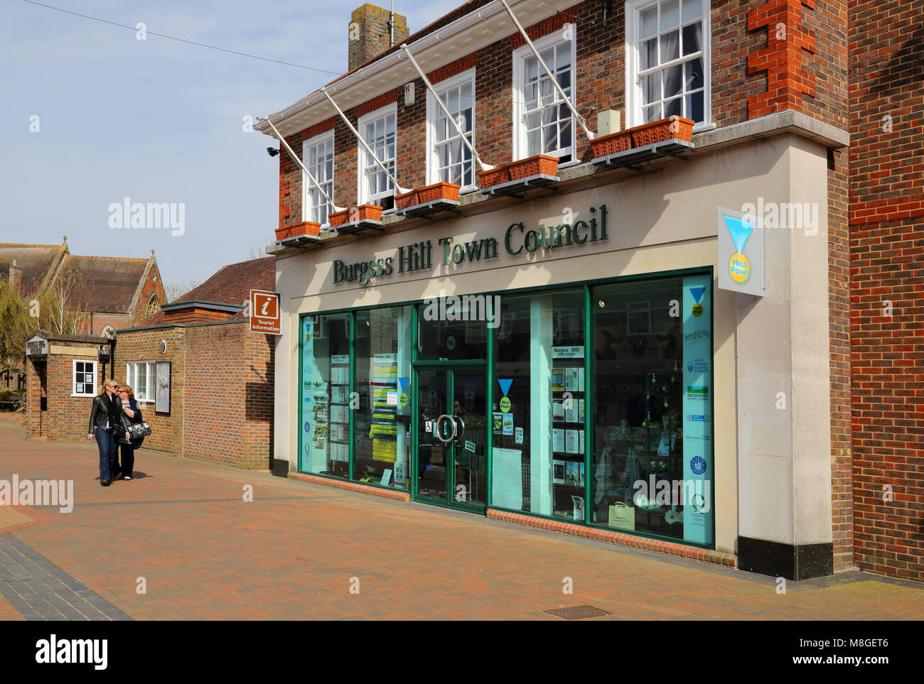 the town council in burgess hill west sussex - Stock Image