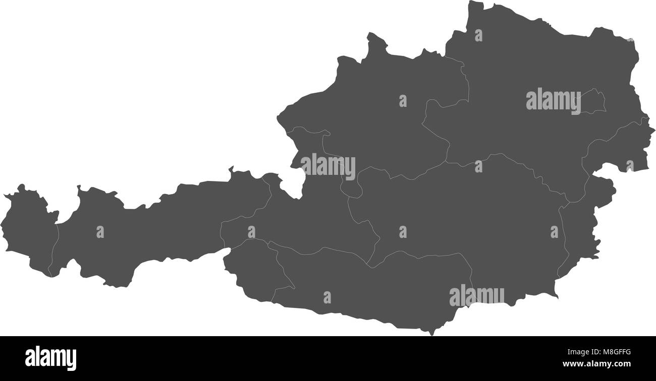 Map of austria split into regions stock vector art illustration map of austria split into regions publicscrutiny Choice Image
