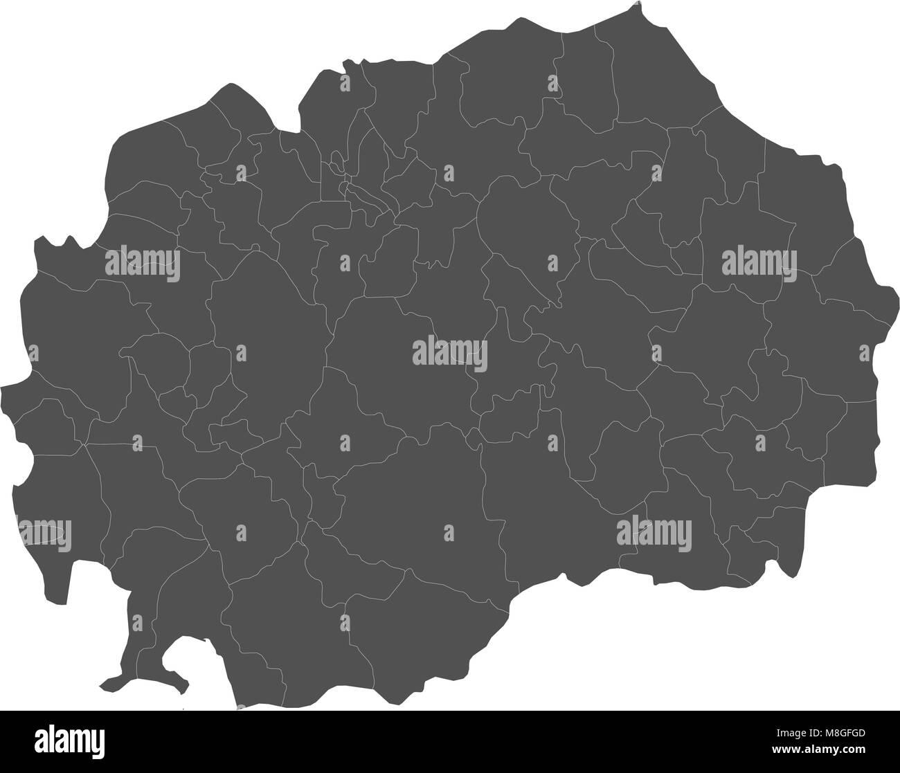 Map of republic of macedonia split into regions stock vector art map of republic of macedonia split into regions publicscrutiny Gallery