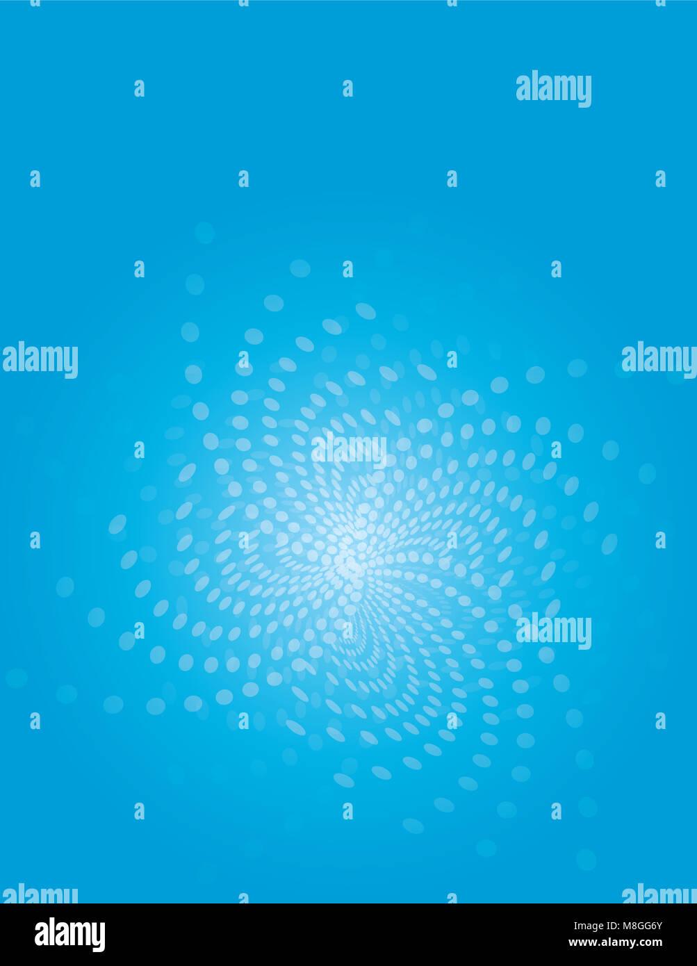 Blue flower swirl flair background - Stock Image