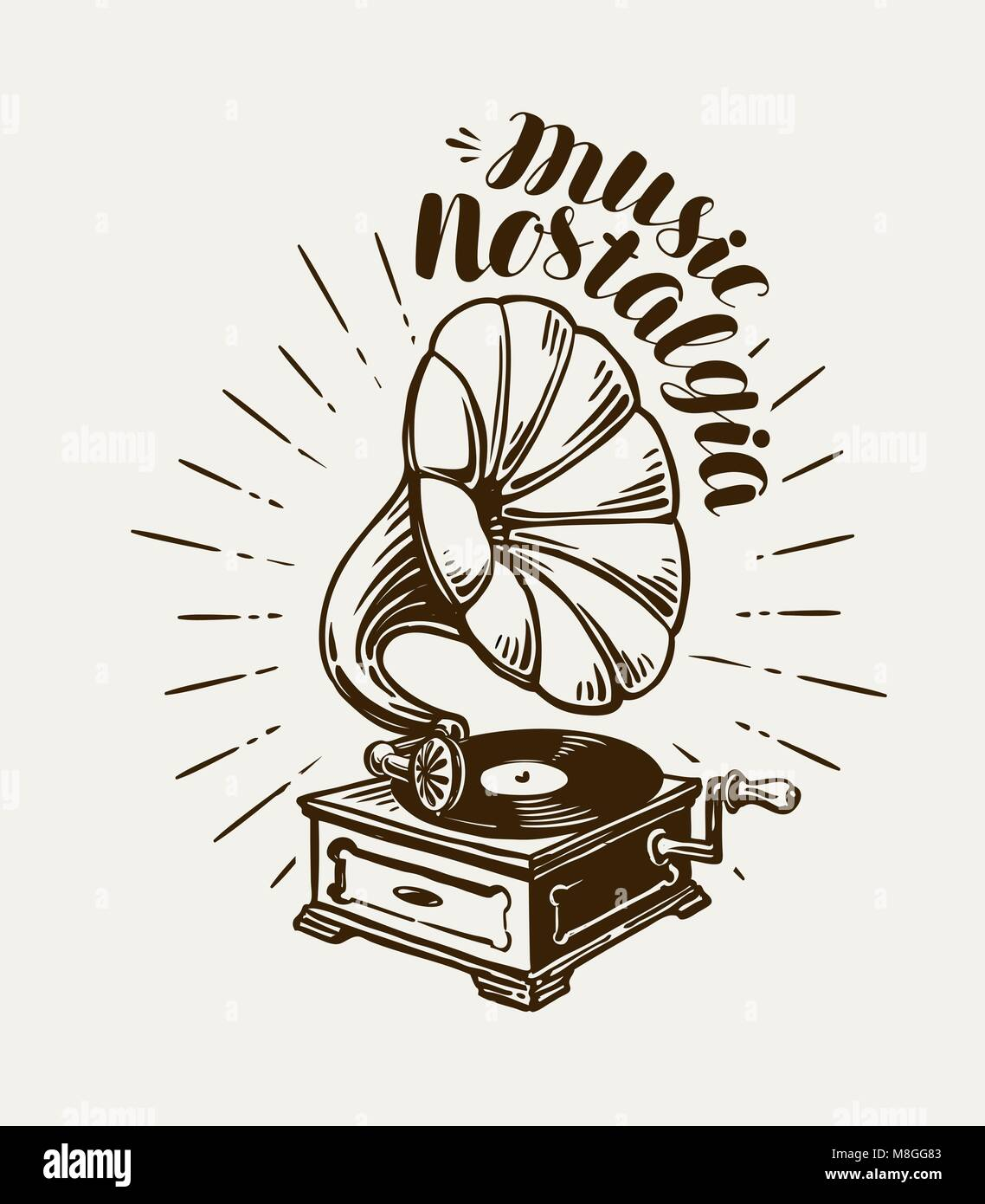 gramophone phonograph record player sketch music concept stock vector image art alamy https www alamy com stock photo gramophone phonograph record player sketch music concept lettering 177384931 html