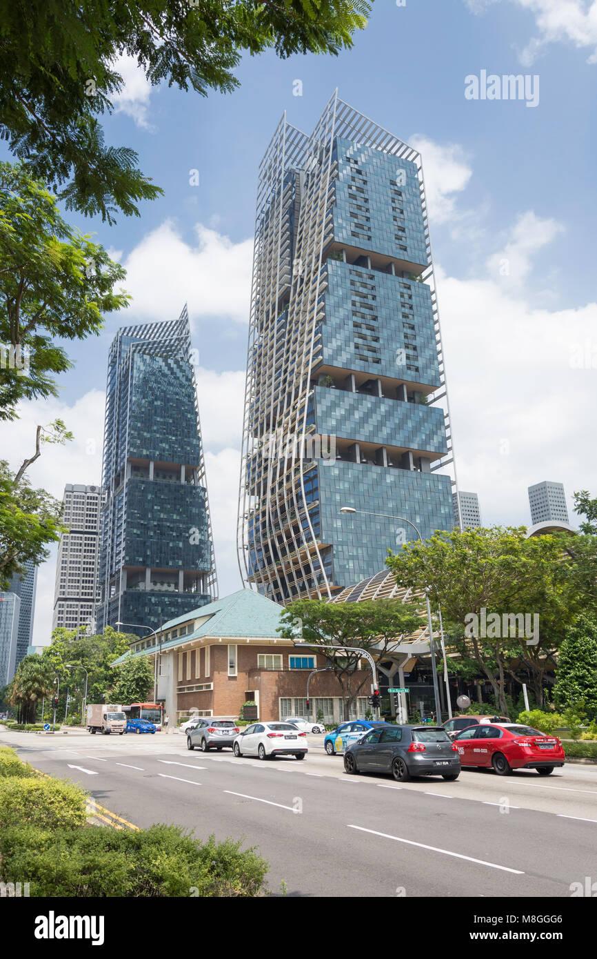 South Beach Tower, Beach Road, Civic District, Singapore Island (Pulau Ujong), Singapore - Stock Image