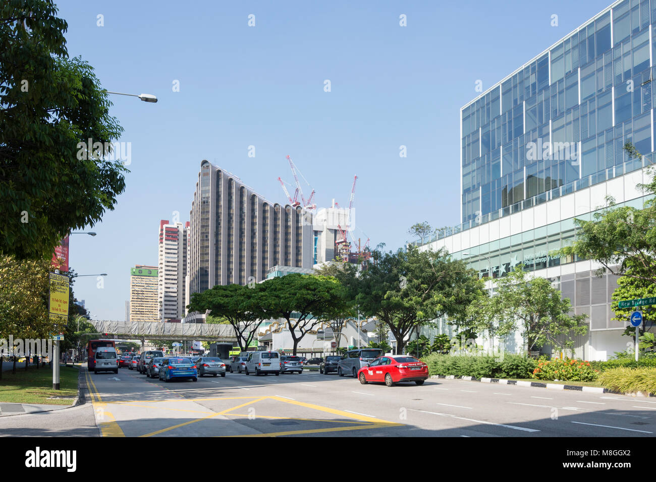 Eu Tong Sen Street, Chinatown, Outram District, Central Area, Singapore Island (Pulau Ujong), Singapore - Stock Image