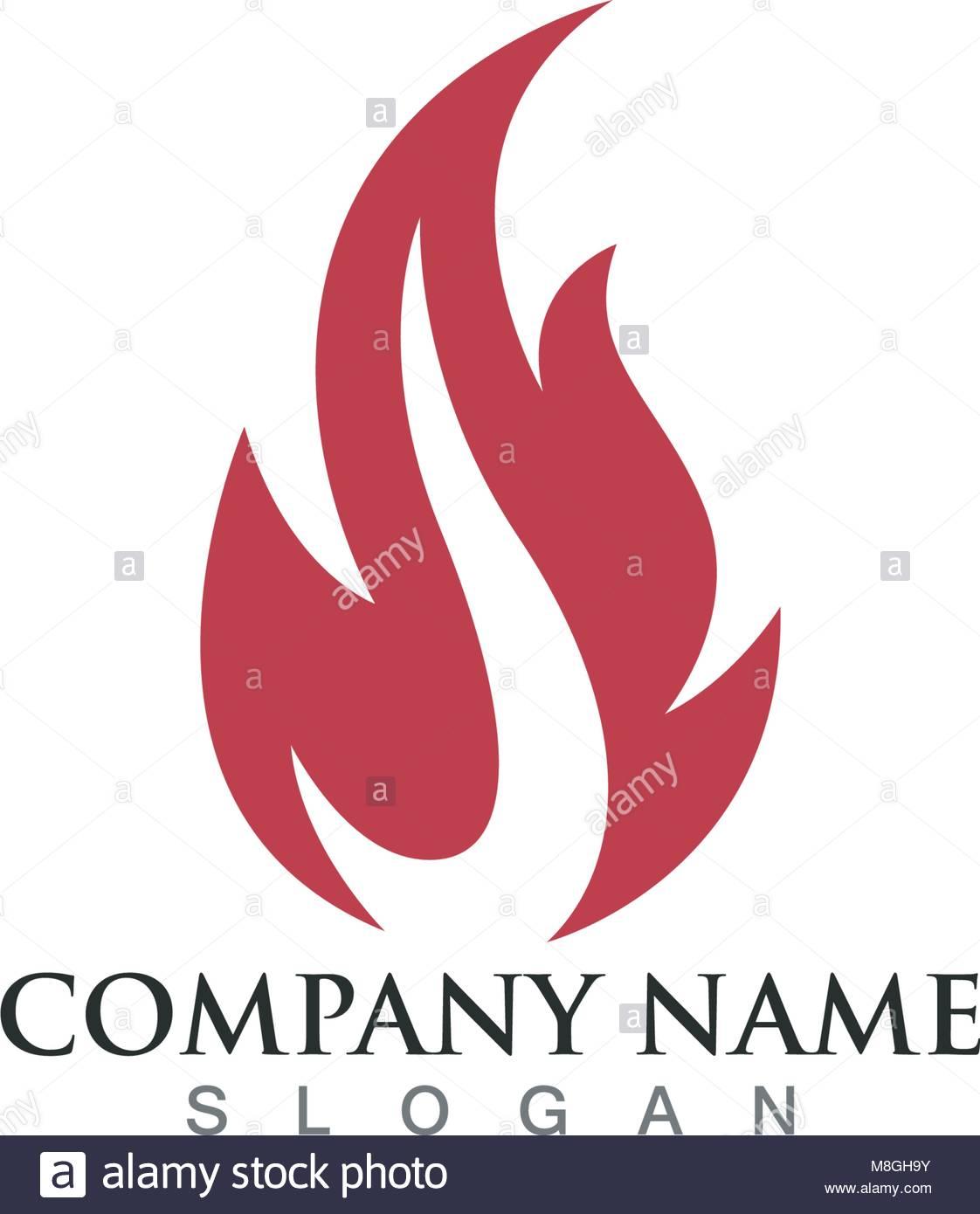 fire flame logo template stock vector art illustration vector