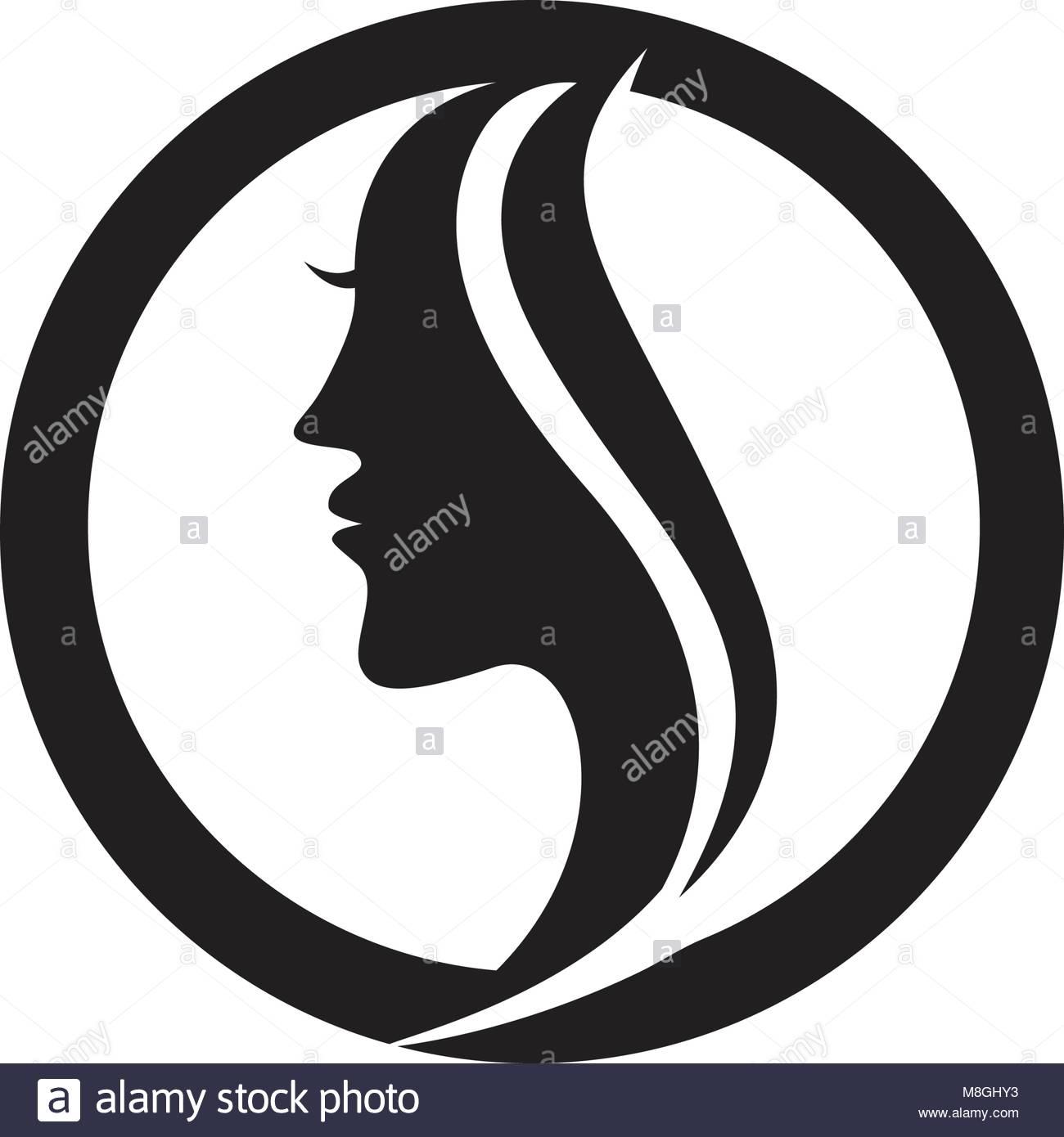Beauty Female Face Logo Design Cosmetic Stock Photos Beauty Female