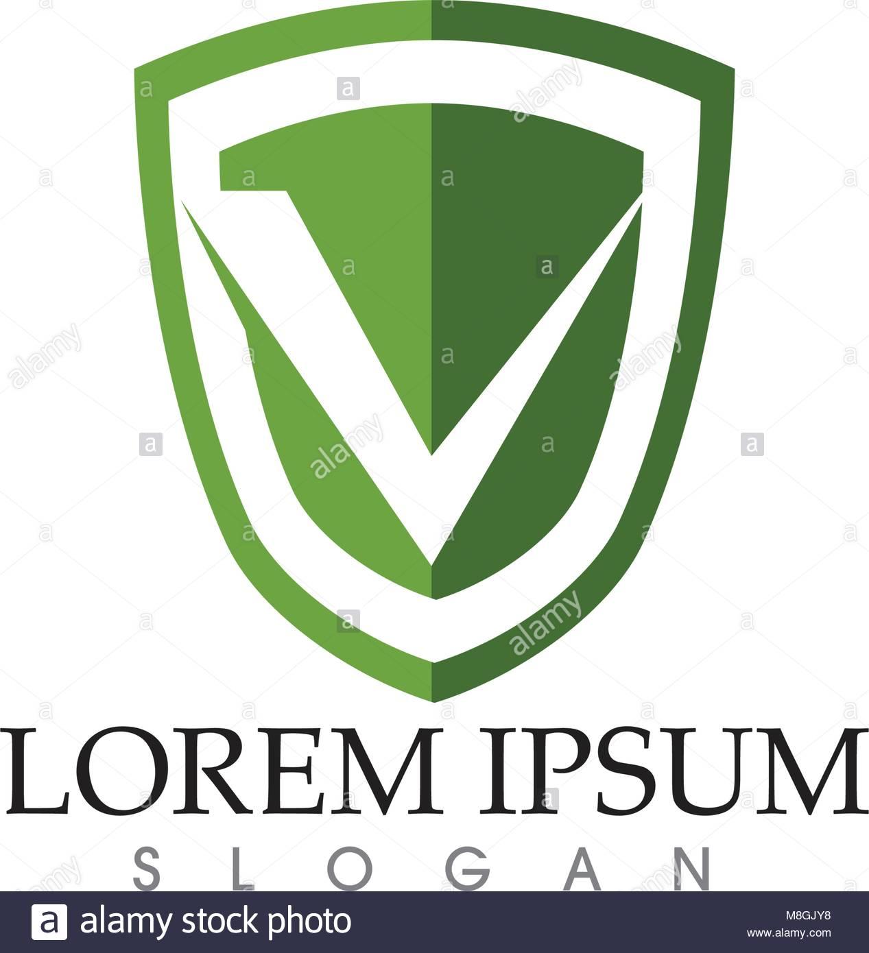 Security guard logo design vector shield template Stock Vector Art ...