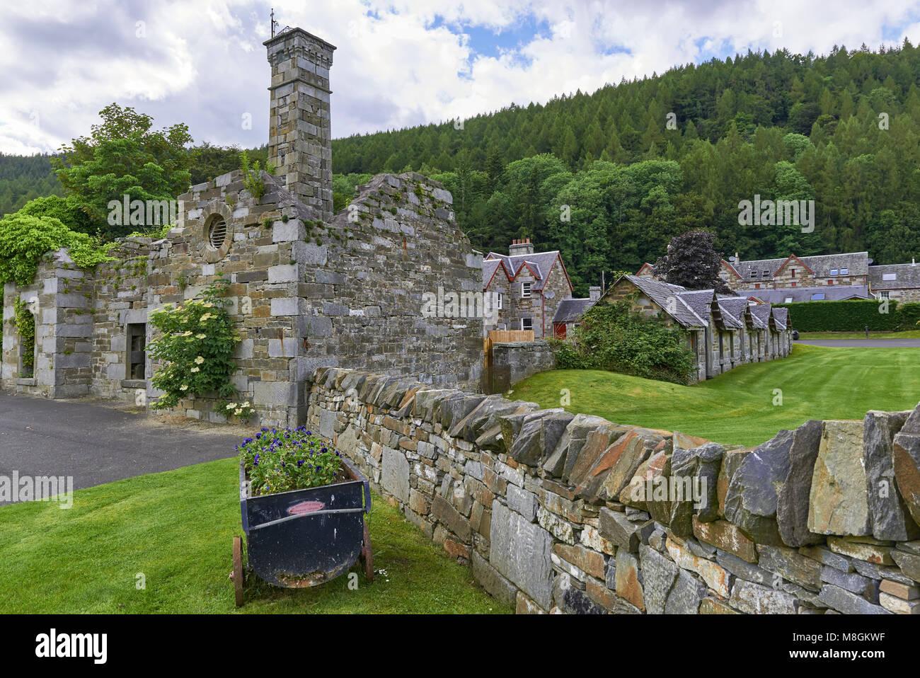 White Garden Stones Asda: Scottish Mill Stock Photos & Scottish Mill Stock Images