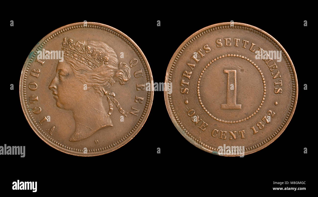 Straits Settlements Coin - Stock Image