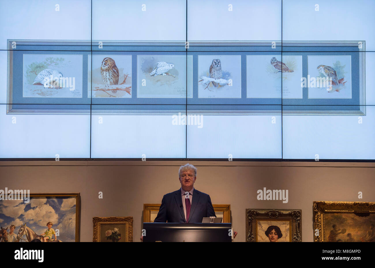 14 March 2018. The 19th Century European, Victorian and British Impressionist Art sale at Bonhams, London. Credit: - Stock Image