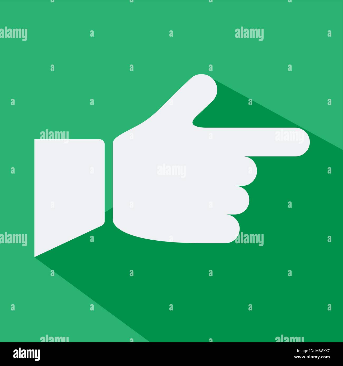design vector of flat icon with concept direction hand symbol - Stock Vector