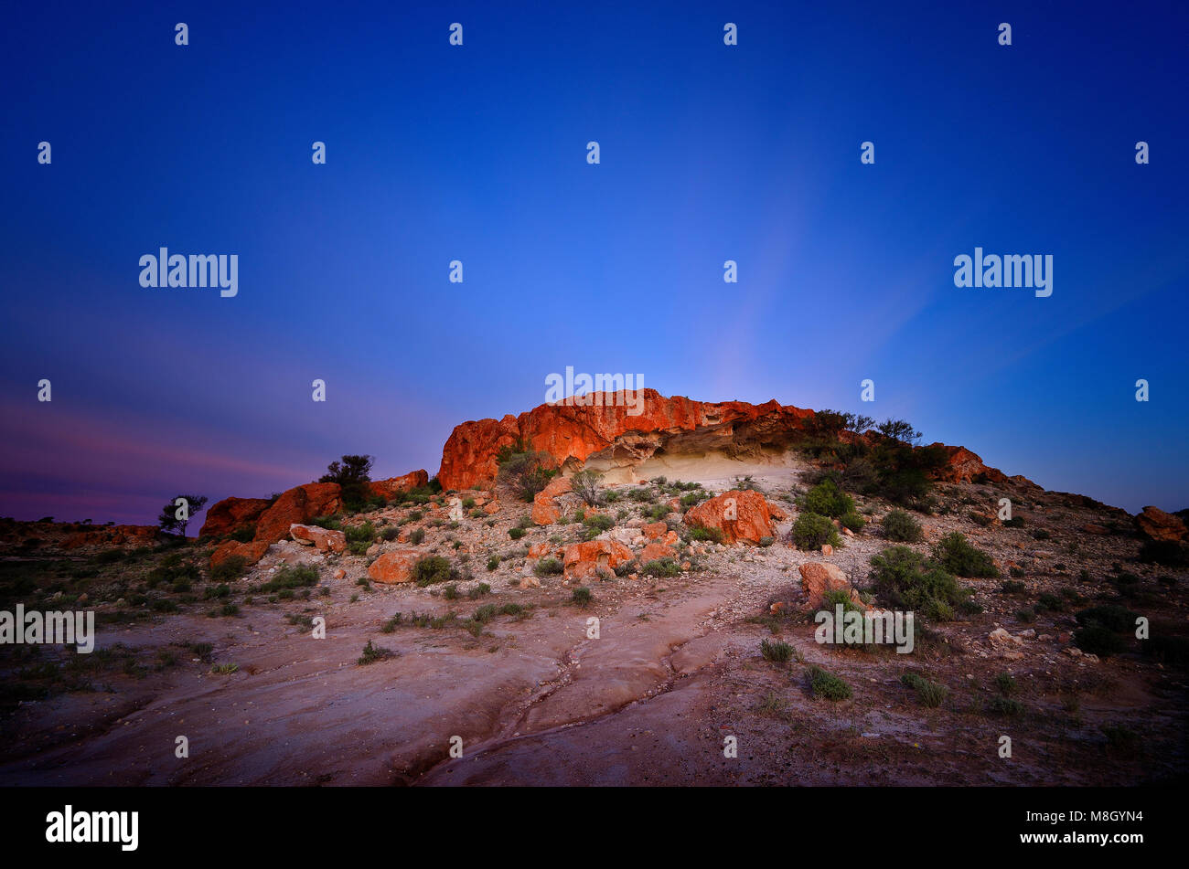 The Granites at sunset, Mt Magnet Western Australia - Stock Image