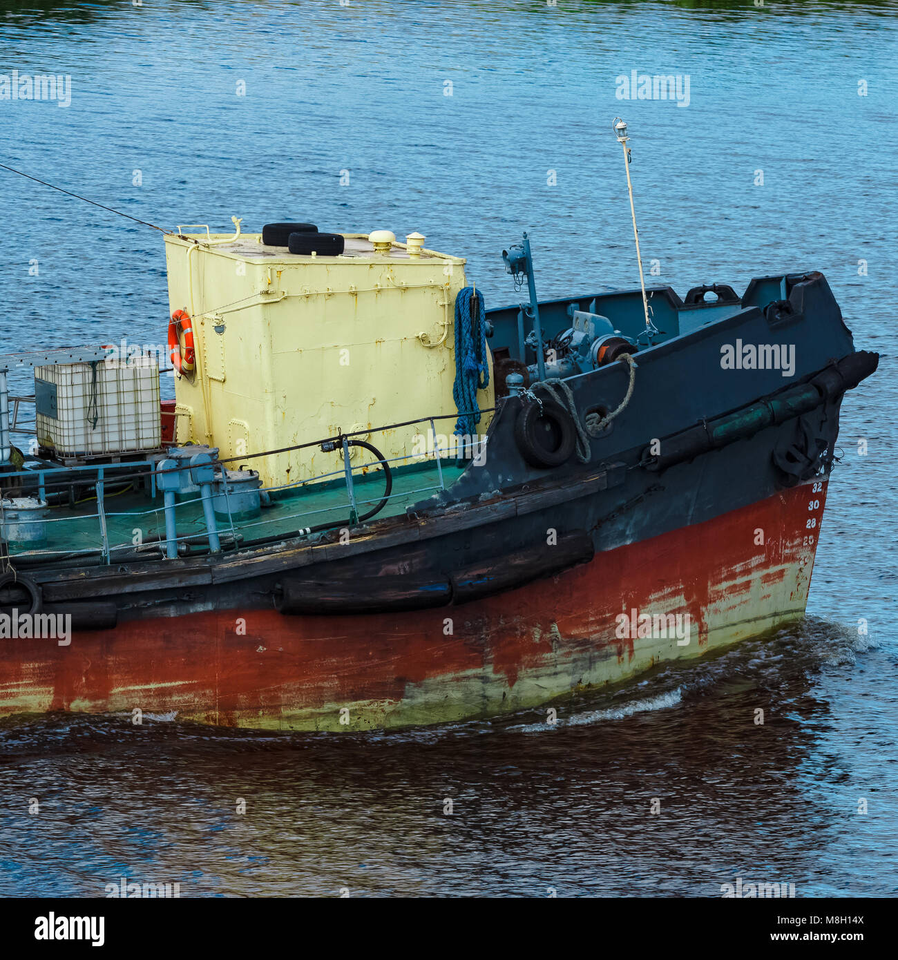 Old Ship And Tugboat Stock Photos & Old Ship And Tugboat