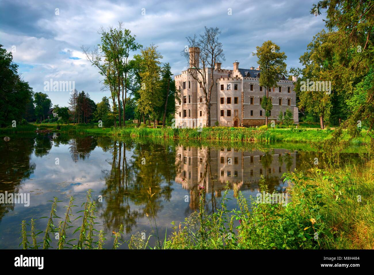 Neo gothic style castle surrounded by an english landscape garden in neo gothic style castle surrounded by an english landscape garden in karpniki poland workwithnaturefo