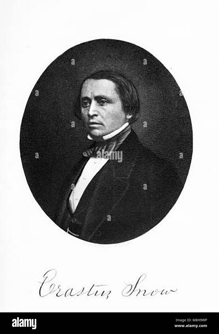 Portrait of US Mormon Pioneer Erastus Snow (1818-1888) - Stock Image