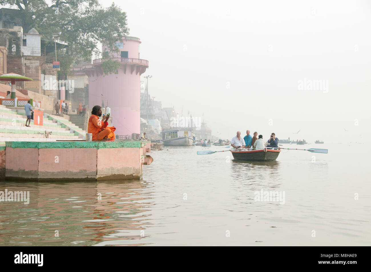 A sadhu of Varanasi, India - Stock Image