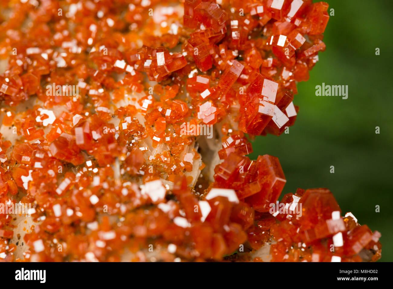 vanadinite mineral vanadinite, mineral stone - Stock Image