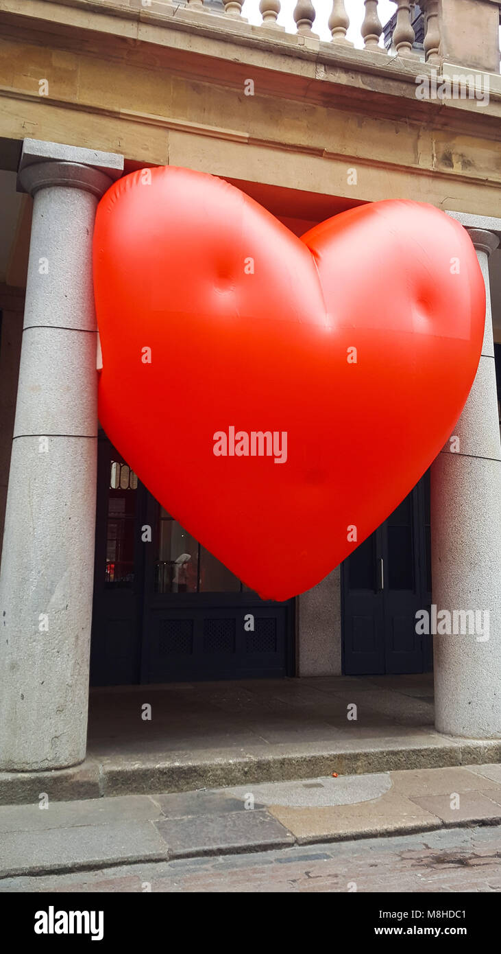 A Giant Inflatable Heart Balloon In Covent Garden As Part Of U201cLove Letter  To London
