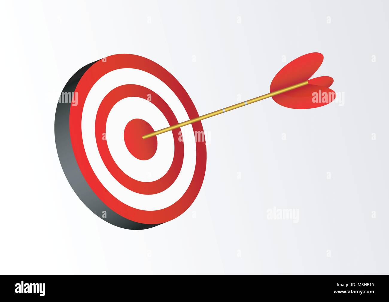design vector of target arrow - Stock Vector