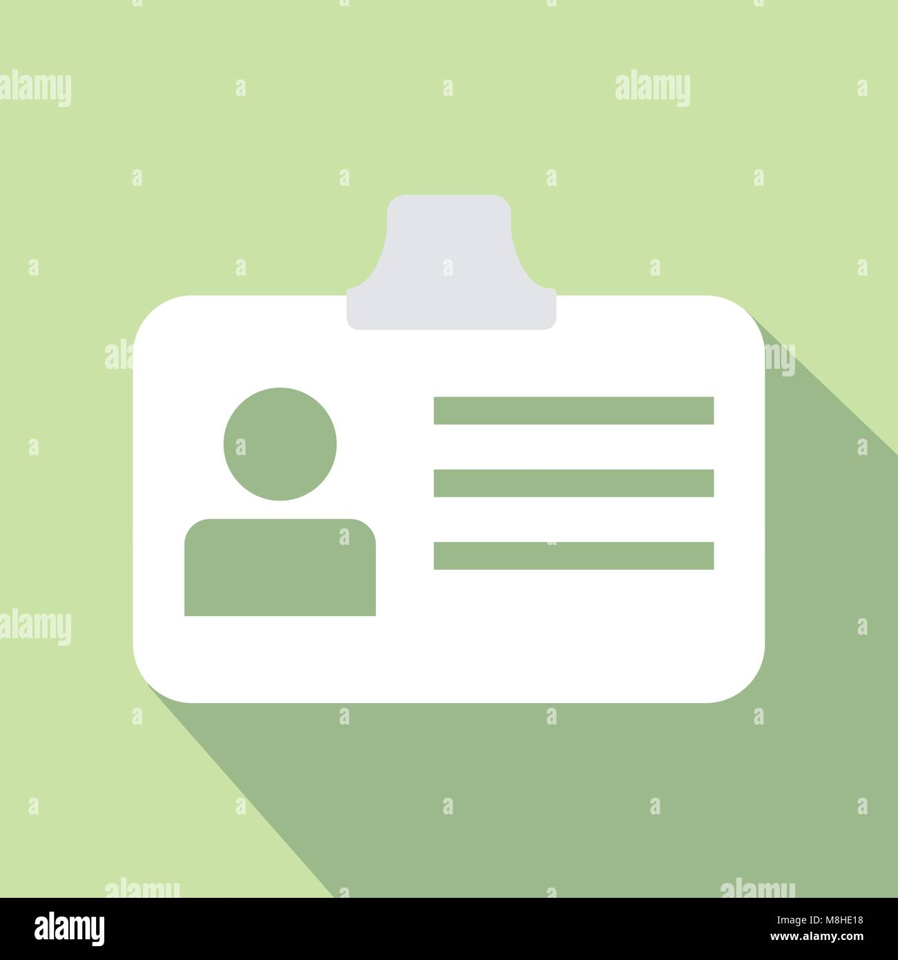 design vector of icon id card flat color - Stock Vector
