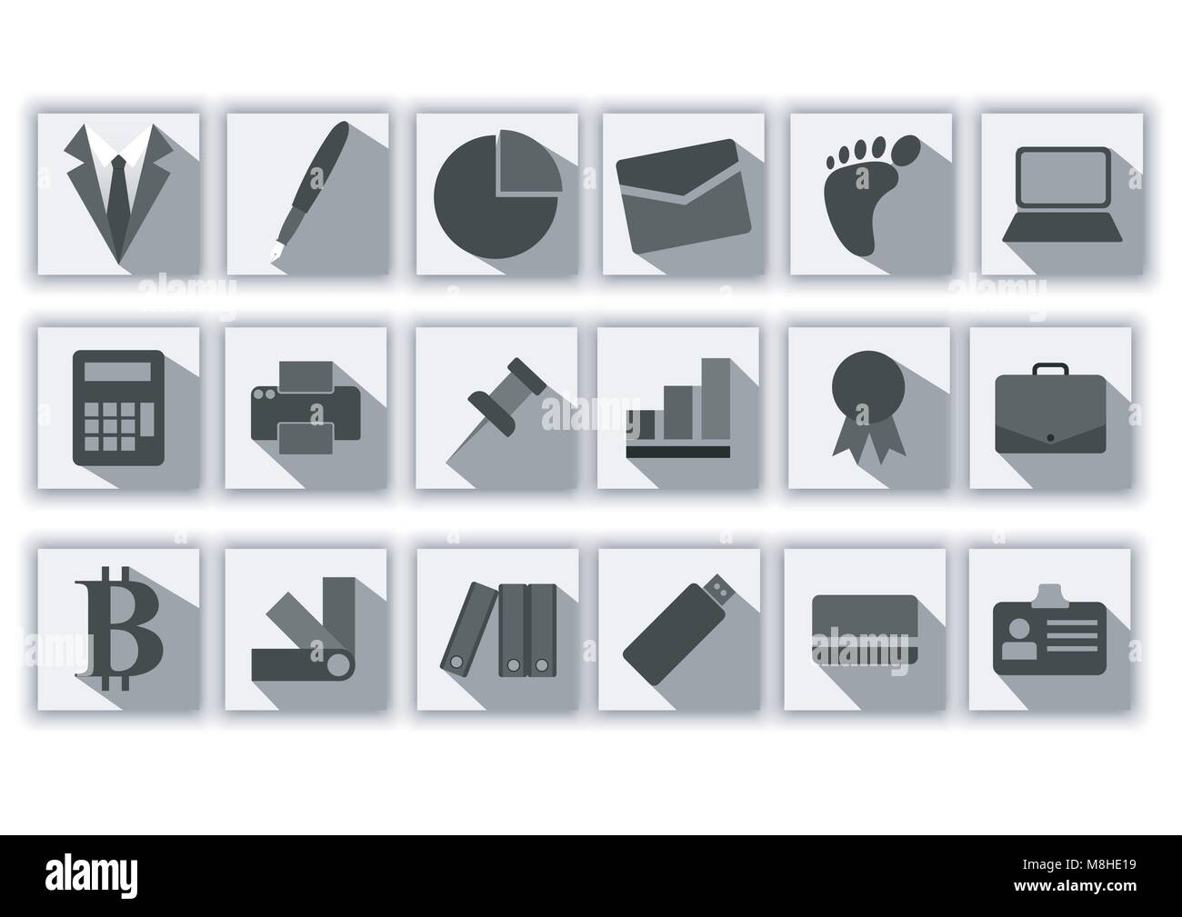 Design Vector Of Icon Pack Greyscale Color Stock Vector Image Art Alamy