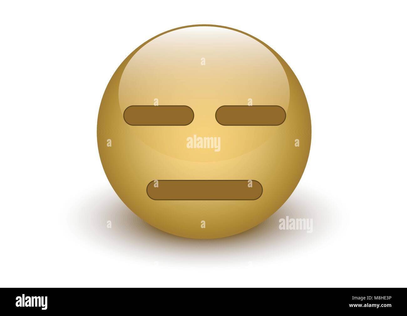 design vector of glass ball innocent expression - Stock Image