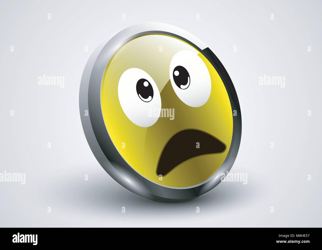 design vector of expression face stunned - Stock Image