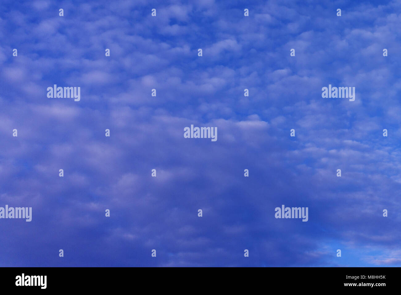 Beautiful bright sky with clouds dyllic nobod - Stock Image