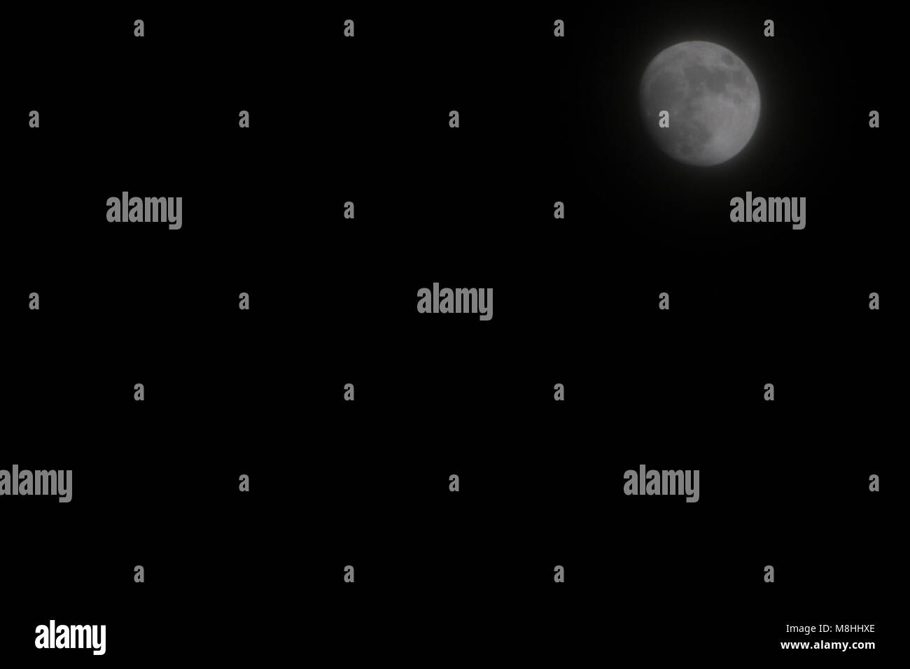 Super Moon, releaserelease event sphere surface time - Stock Image
