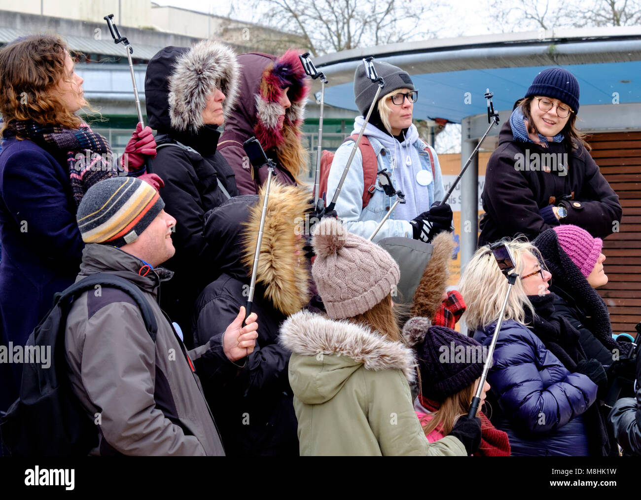 Bristol, UK, 17th March 2018. Next generation Superfast internet connection demonstrated to the public in Bristol. - Stock Image