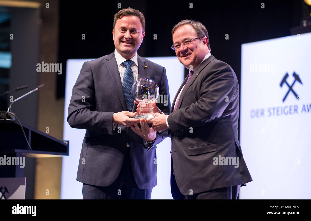 17 March 2018, Germany, Dortmund: North Rhine-Westphalia's Armin Laschet from the Christian Democratic Union - Stock Image