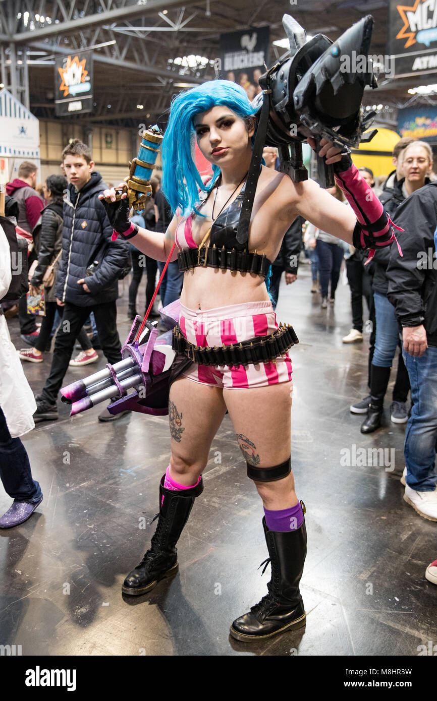 Birmingham, England. 17th March 2018,  Various cosplay people at Birmingham MCM Comic Con held at NEC Arena on March - Stock Image