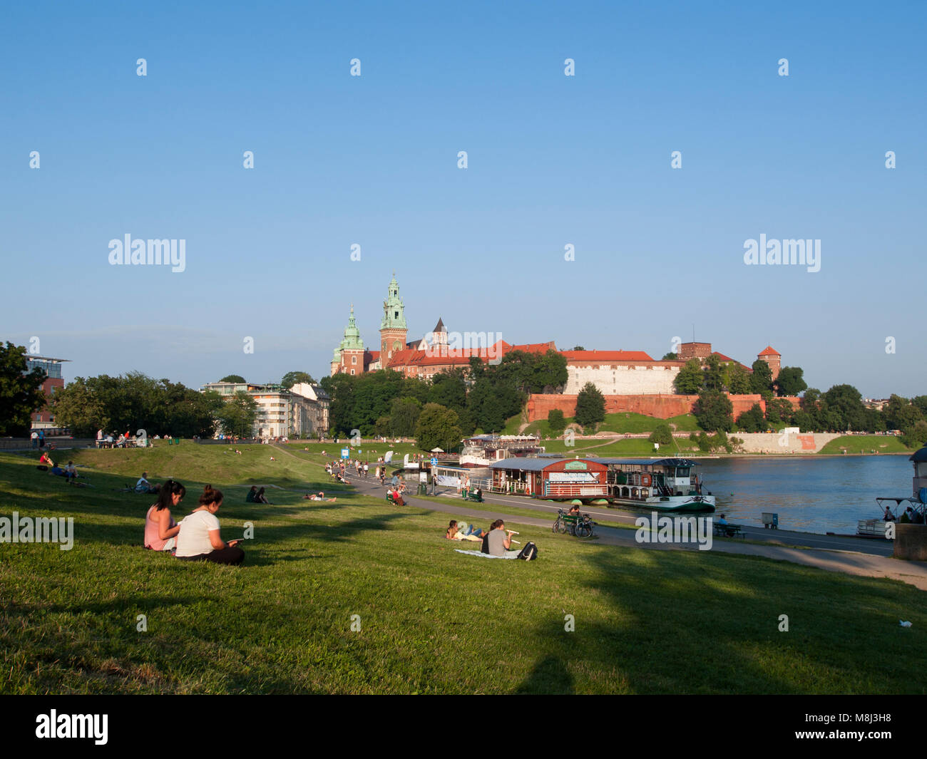 Relax by the Vistula River Stock Photo