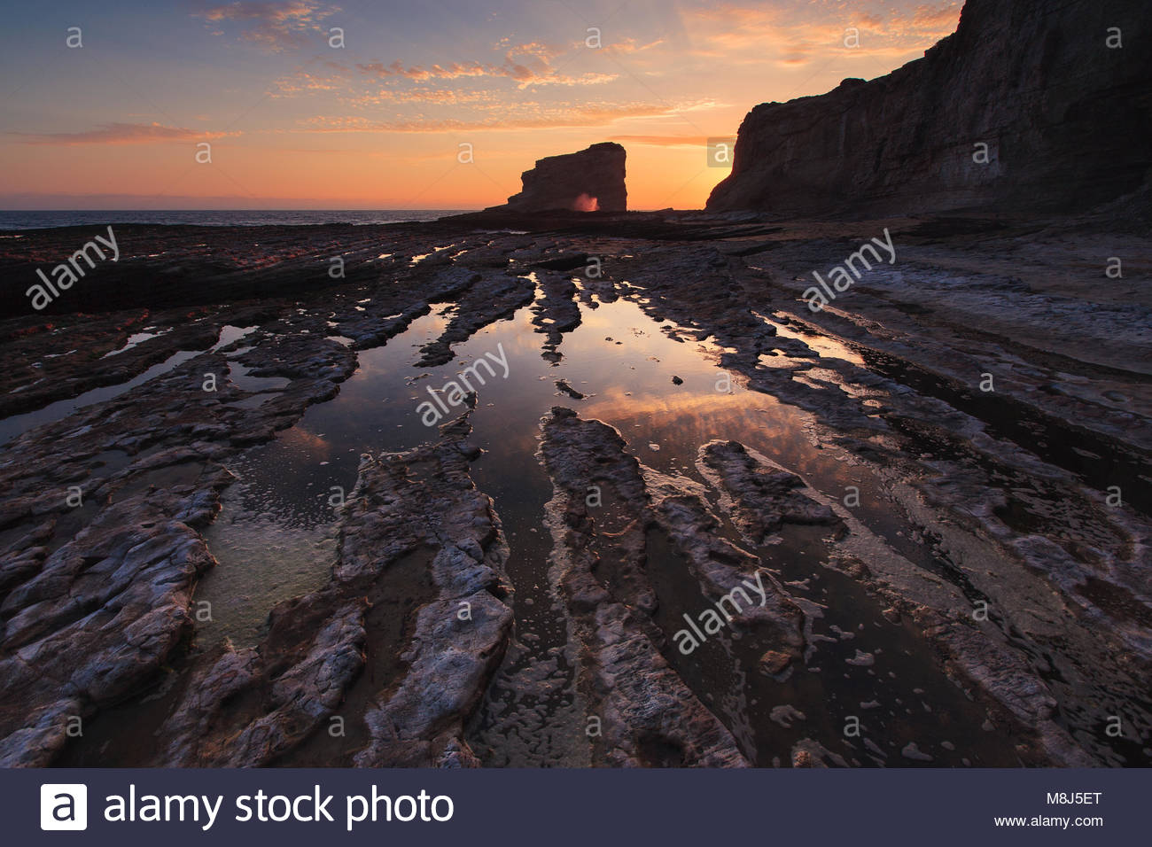 Panther Beach is a popular sandy beach north of Santa Cruz near the hamlet of Davenport, CA. It's part of the Coast - Stock Image