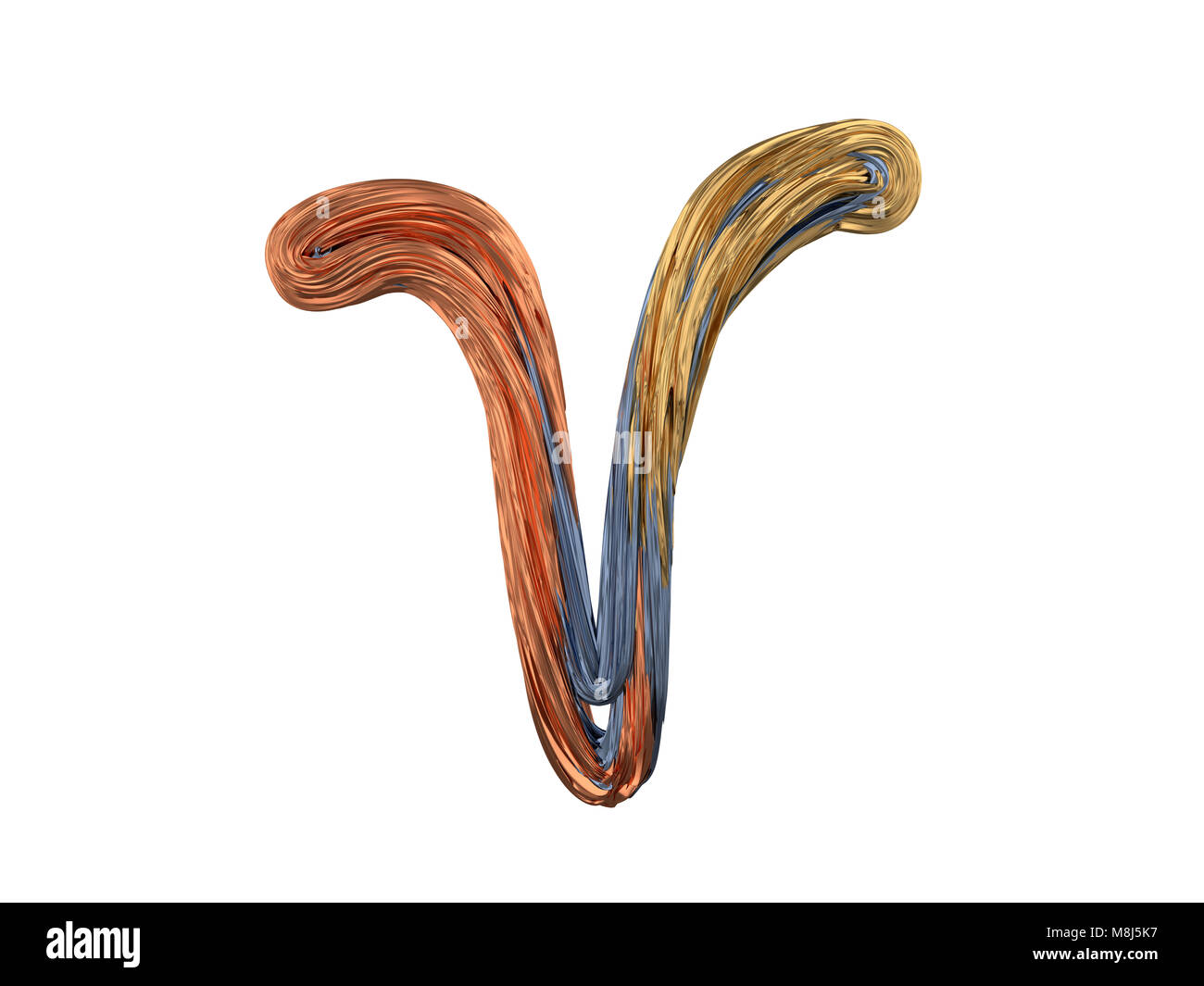 Aries Zodiac Sign Abstract Metal Symbol 3d Rendering Stock Photo
