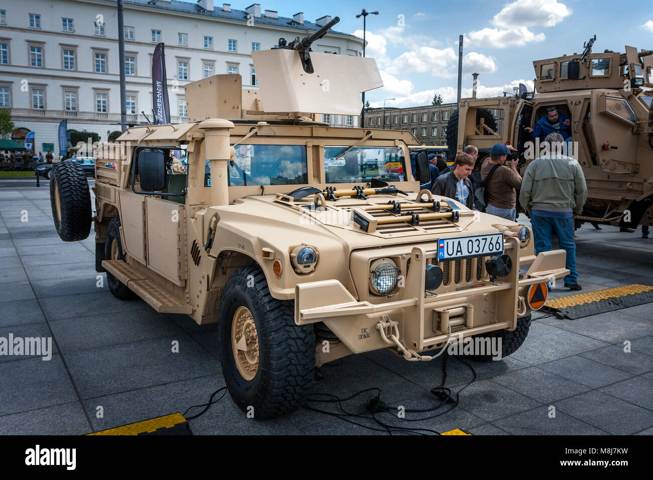 WARSAW, POLAND - MAY 08, 2015: Humvee HMMWV m1165 expanded capacity general purpose vehicle. 70th anniversary of - Stock Image