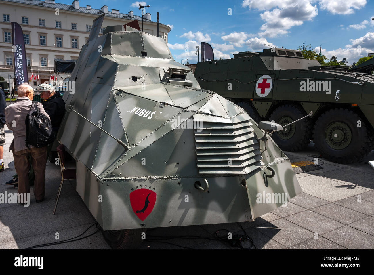 WARSAW, POLAND - MAY 08, 2015: Armored Car KUBUS, created by the ...