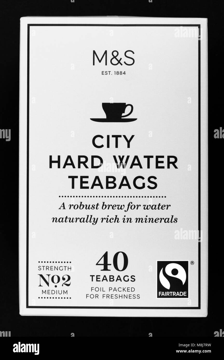 M&S City Hard Water Tea Bags - Stock Image