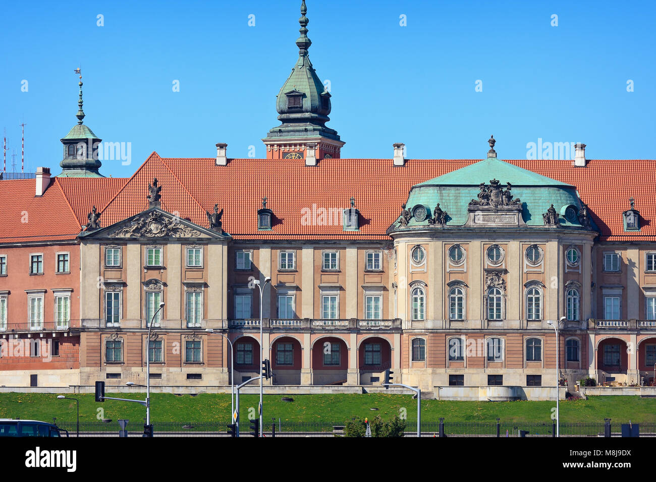 Warsaw's Royal Castle (14th century), residence of the Polish monarchs. Poland Stock Photo